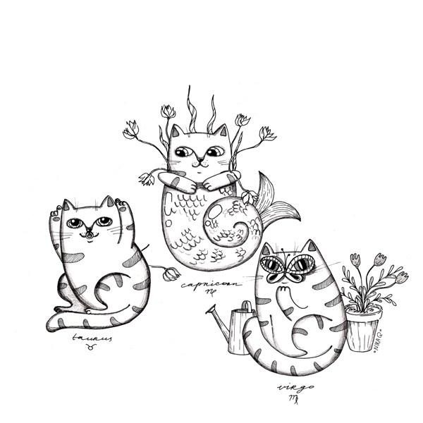 Earth - virgo, cute, cat, cartoon - nikaq | ello