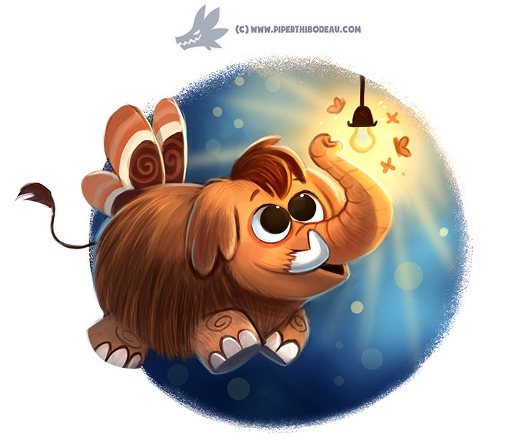 Daily Paint MamMoth - 1192. - piperthibodeau | ello