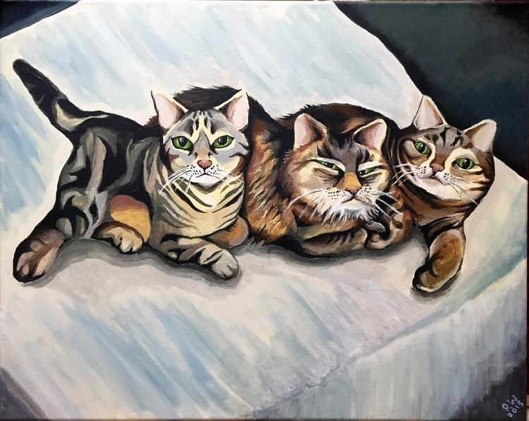 Kitties Acrylic Canvas - painting - wilkinso-5391 | ello