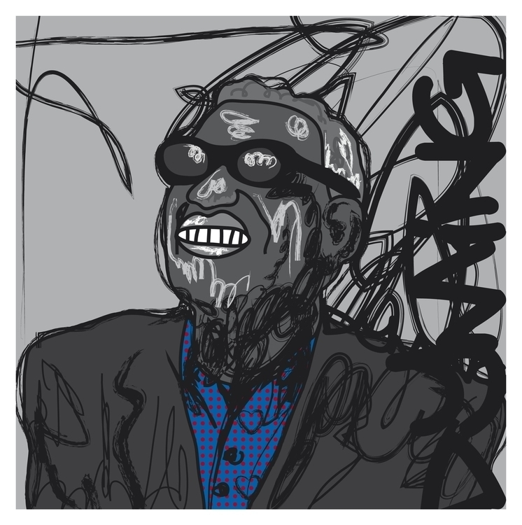 Ray Charles Diming - illustration - dyming | ello