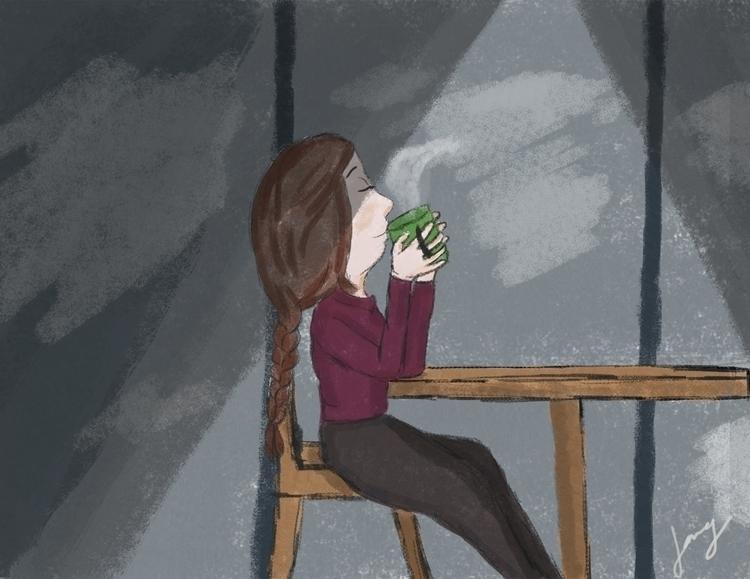 Coffee - illustration, characterdesign - jang-4468   ello