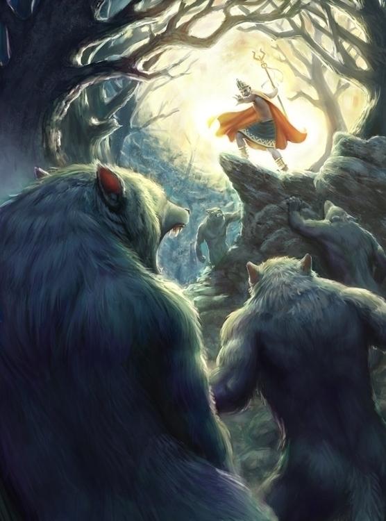Werewolf Night - werewolf, illustration - tobba | ello