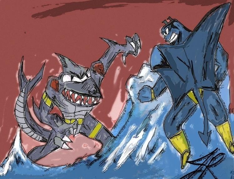 Sea War - digitalillustration, mixedmedia - janoryusaru | ello