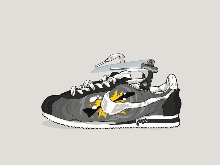 Nike Cortez - Cholo, Knife, Gray - totoi | ello