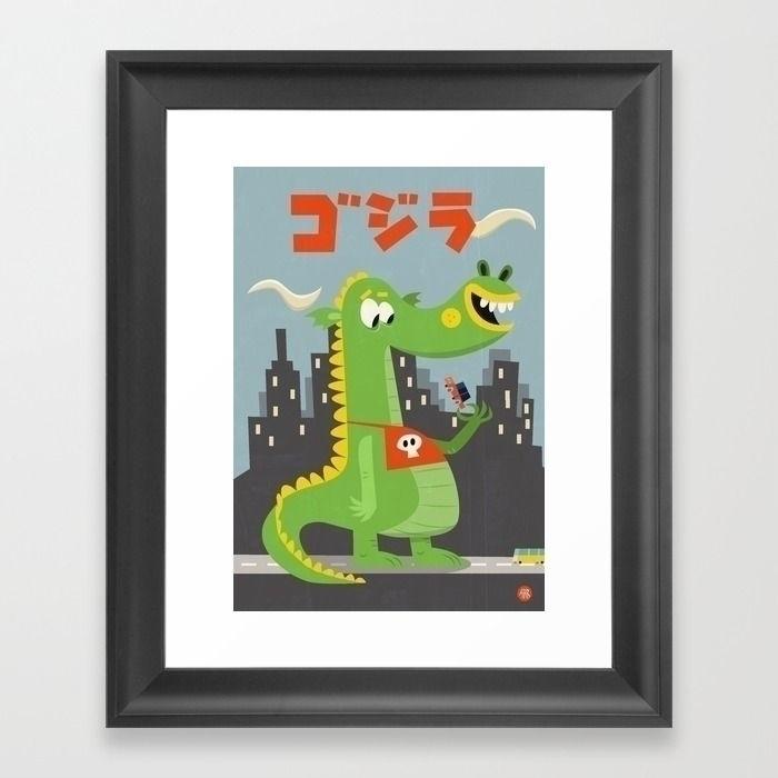 Godzilla - illustration, characterdesign - sweatshopillustrations | ello