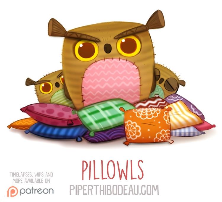 Daily Paint 1565. Pillowls - piperthibodeau | ello
