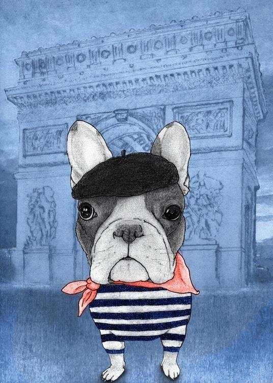 French Bulldog Arc de Triomphe  - barruf | ello