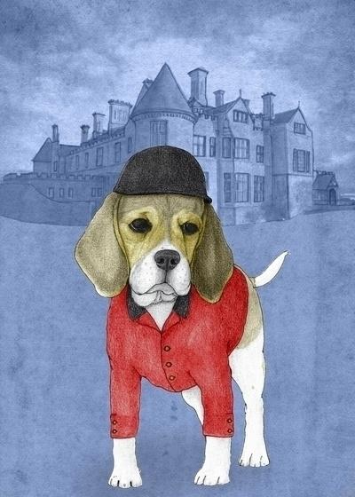 Beagle Beaulieau Palace. Illust - barruf | ello