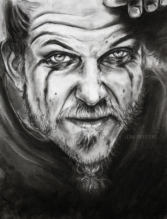 Floki. Charcoal pencil, vine co - leahgriffiths | ello