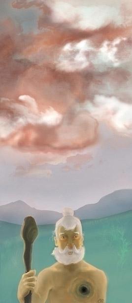cloud, pink, oldman, spiritual - amigdala | ello