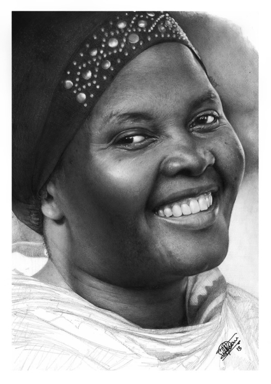 pencil paper drawing mom - portrait - loukman | ello