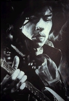 Jimi - White Pencil Black Paper - bkthompson | ello