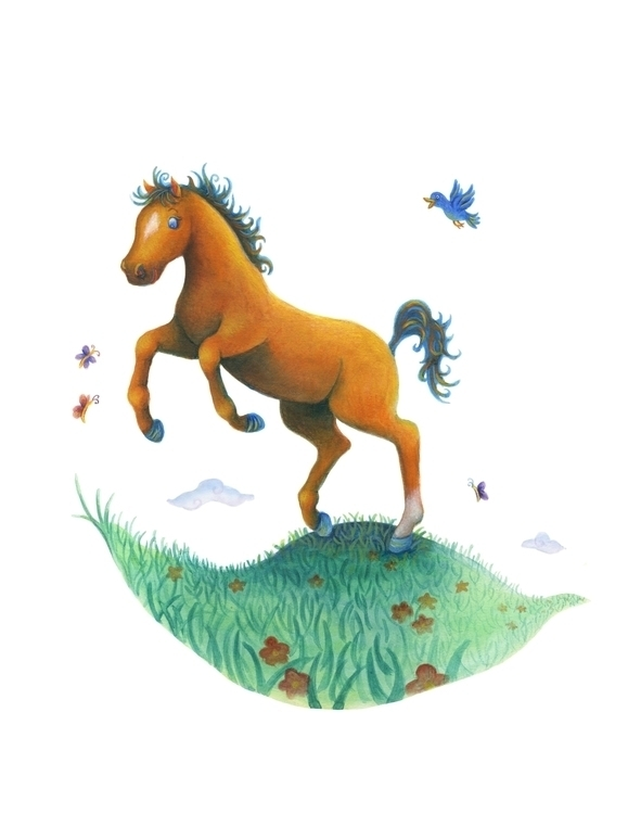 Pegasus Moon Magazine - horse, kidlitart - alvinakwong | ello