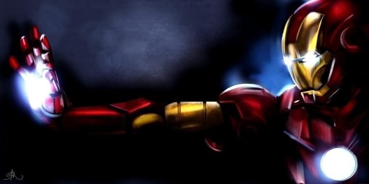 Iron man painting - ironman, drawing - ashling_sublime | ello