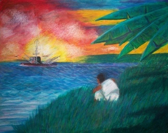 Sunset - Pastel Paper - illustration - bkthompson | ello