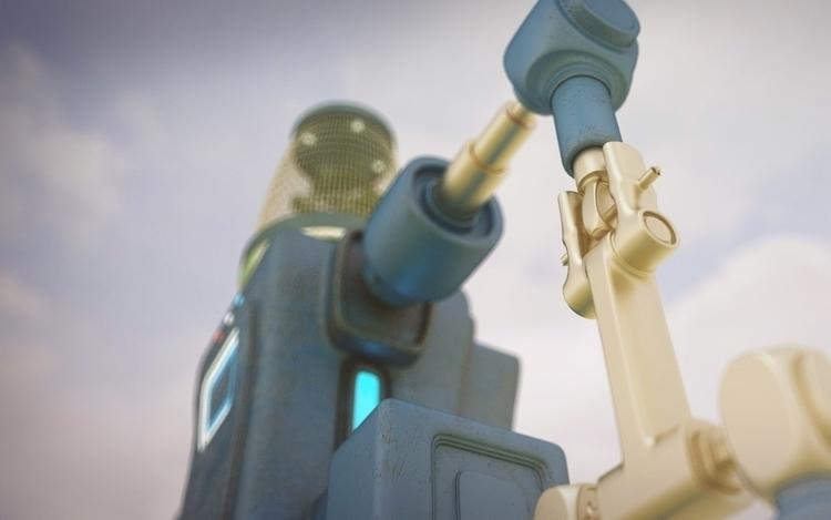 Robot K8 - illustration, 3d, design - cruvi | ello