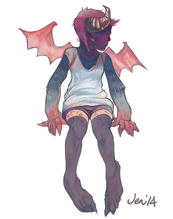 Demon girl - estirdalin | ello
