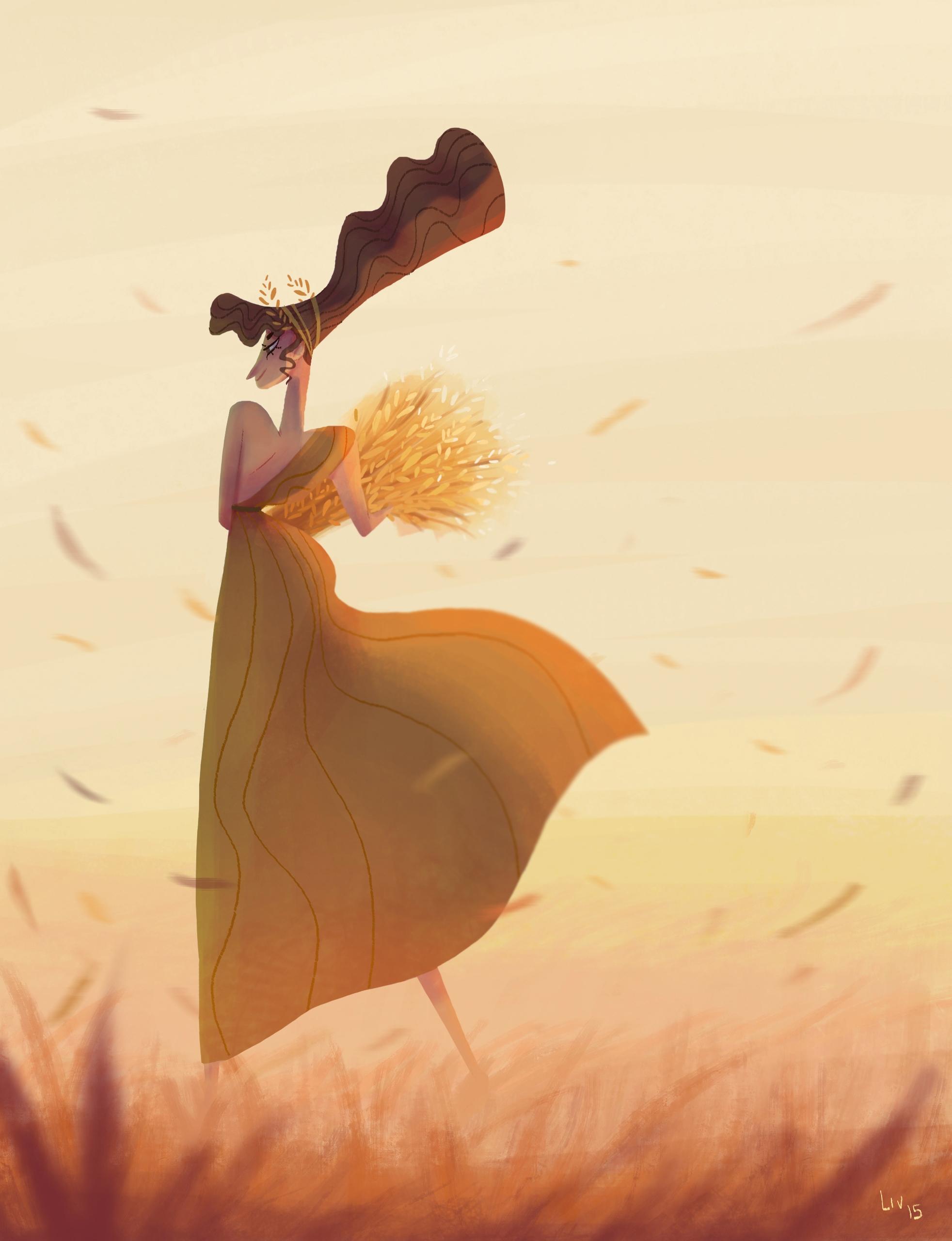 Demeter, goddess harvest charac - liviaconstante | ello