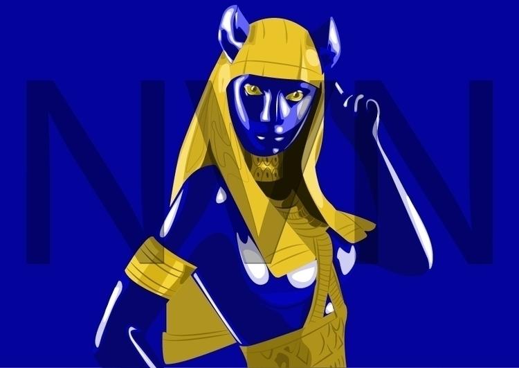 Bastet Queen - bastet, vectorart - nvndesigns | ello
