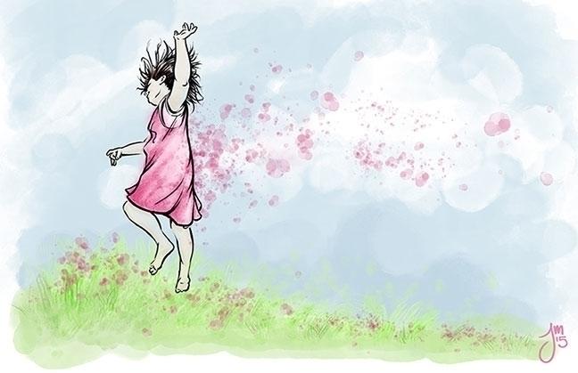 thought Fuchsia girl prancing d - jasonmartin-1263 | ello
