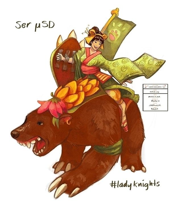 Lady knights sketch challenge 5 - estirdalin | ello