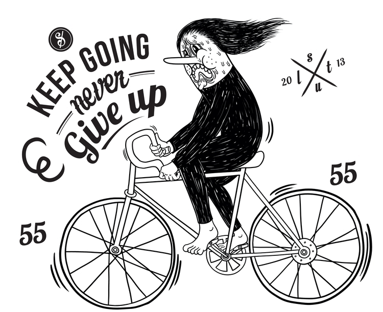 Cycling slut_keep - illustration - guanyinma | ello
