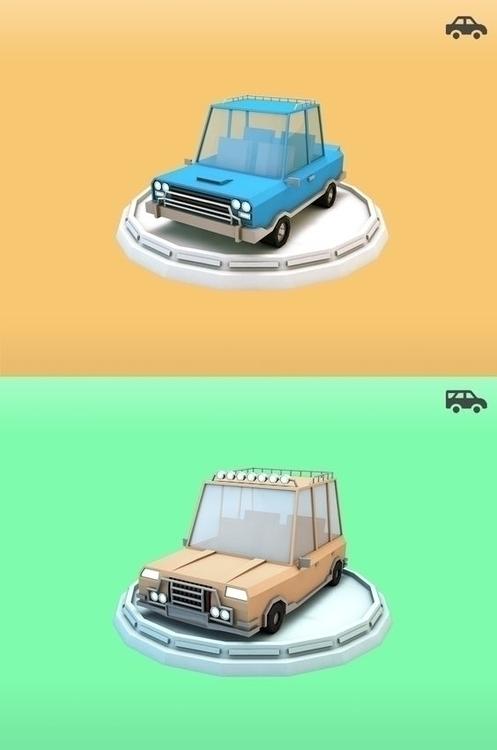 Poly Family cars - lowpoly, lowpolycar - bigballsstudio | ello