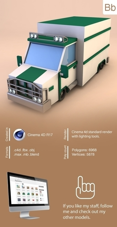 poly truck - lowpoly, lowpolytruck - bigballsstudio | ello