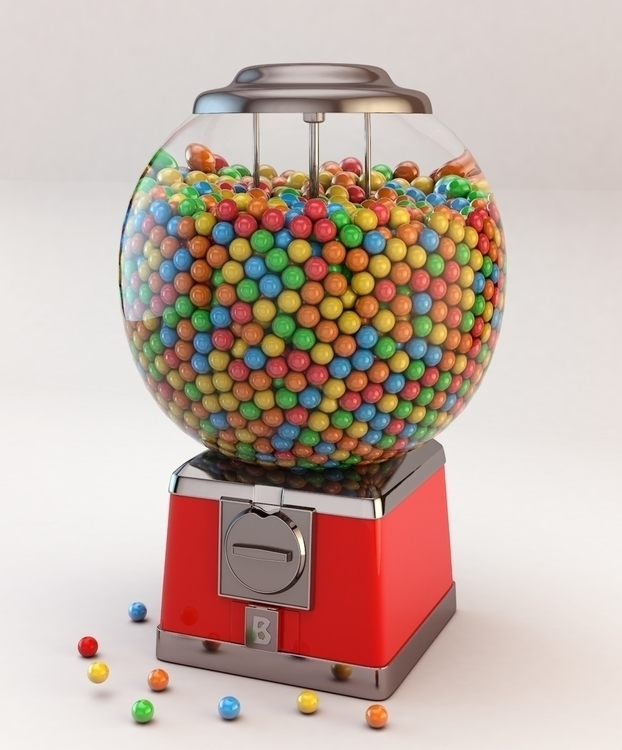 Gumball machine - 3d, design, environment - bigballsstudio | ello