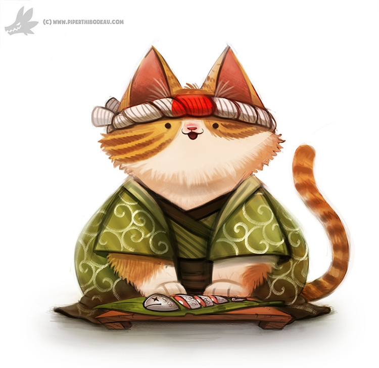 Daily Painting Sushi Chef - 920 - piperthibodeau | ello