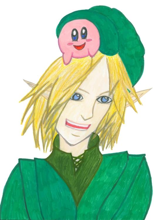 Kirby Surprise - characters, characterart - jennziegirl | ello
