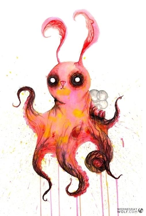 Octobun - illustration, painting - wednesdaywolf-9030 | ello