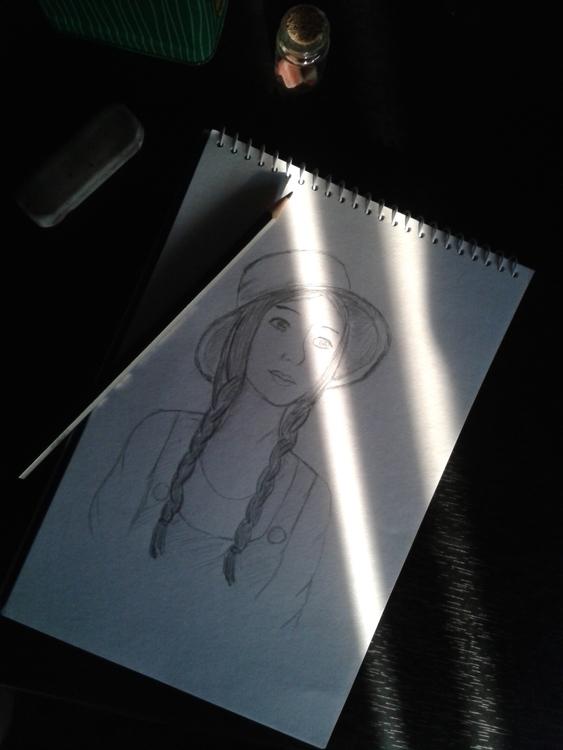 Girl - girl, pencil, pencildrawing - jang-4468 | ello