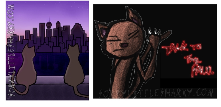 Cat-toons - cartoon, artcats, cat - sorrylittlesharky | ello
