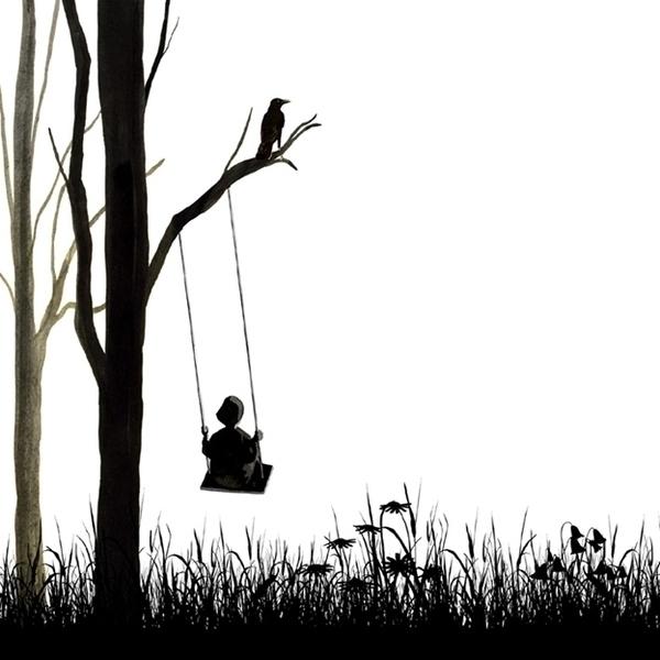 girl, swing, meadow, flowers - robincottage   ello
