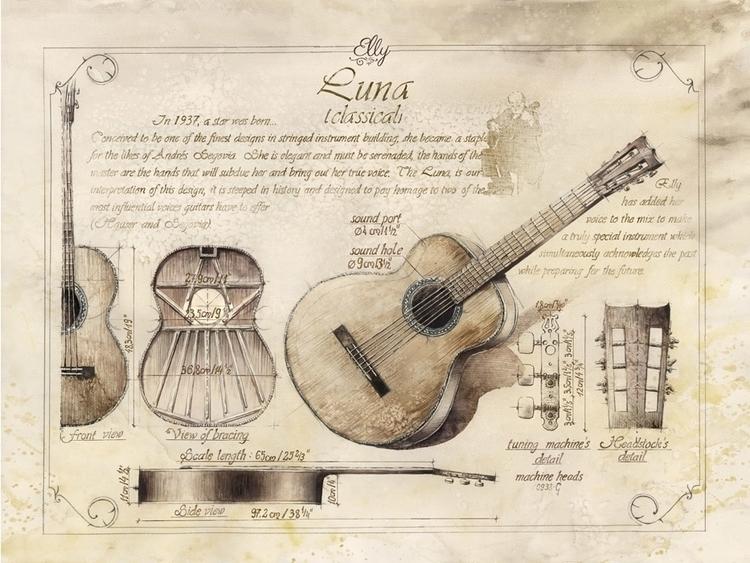 Drawings classic guitar designe - grimdream | ello