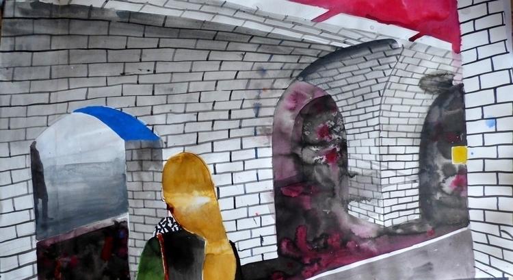 Le métro parisien - art, painting - pangilinan | ello