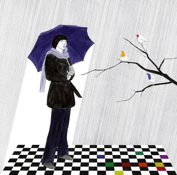 rain, watercolour, umbrella, branch - robincottage | ello