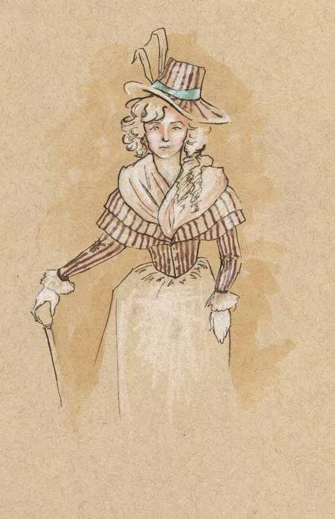 Fancy young lady toned paper. P - tyrawilloughby | ello