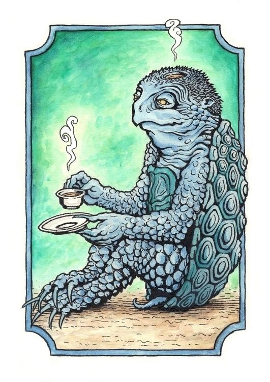 Kappa Tea - illustration, characterdesign - bluemask-5749 | ello