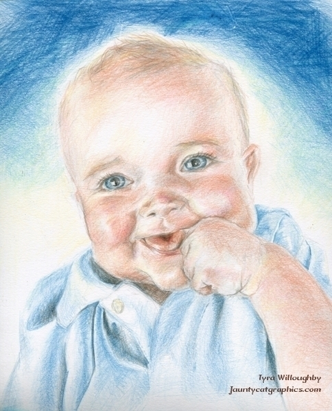Portrait friends baby - coloredpencil - tyrawilloughby | ello