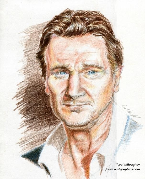 Portrait Liam Neeson - portrait - tyrawilloughby | ello