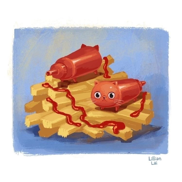 Catsup fries - lillisketch   ello