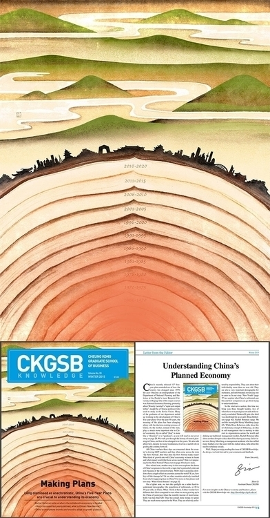 'Making Plans' Illustration CKG - bingnanwei   ello