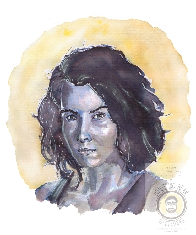 Maggie Walking Dead, fan art il - whistlingbear | ello