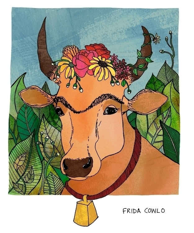 Frida Cowlo (Frida Kahlo - illustration - nanu_illustration | ello