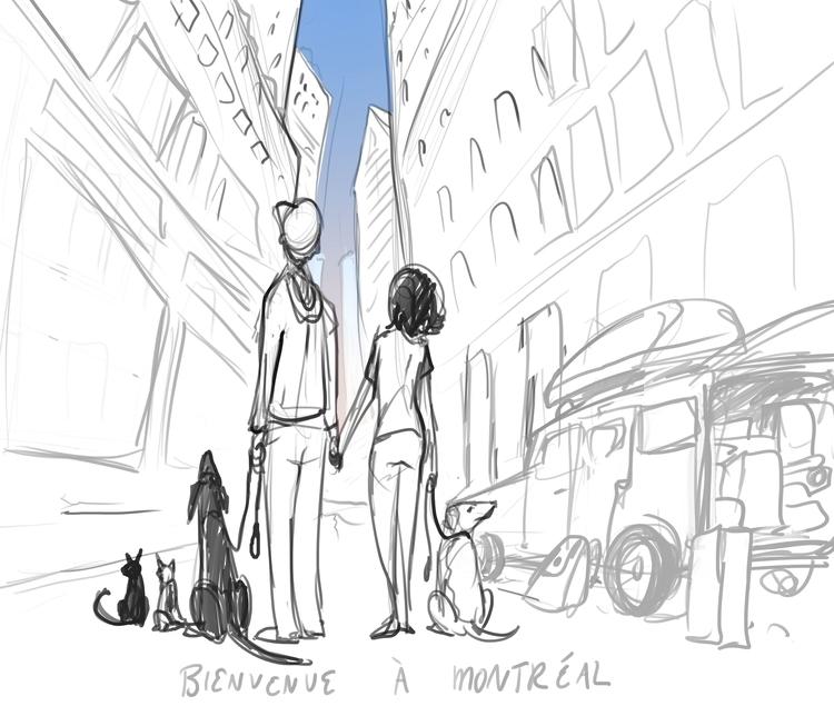 sketch - remembering wife rolle - ccampbellart | ello