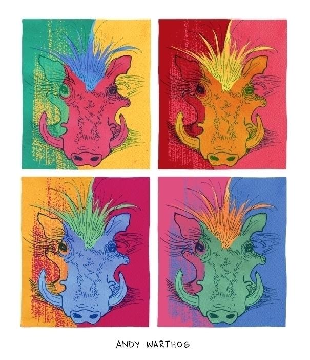 Andy Warthog (Andy Warhol - digitalart - nanu_illustration | ello