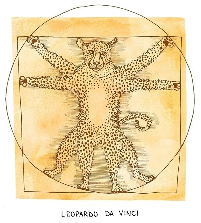 Leopardo da Vinci (Leonardo Vin - nanu_illustration | ello