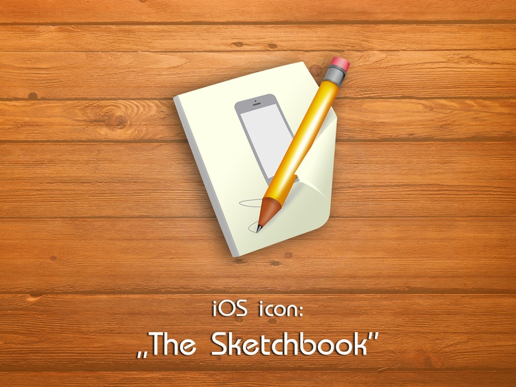 Sketchbook -Ios Icon - design, icons - tomekpanek | ello